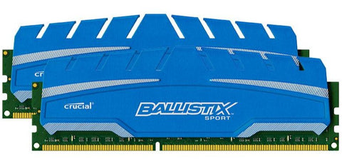 Crucial 8GB kit (2x4GB) DDR3 1866MHz, CL10, Ballistix