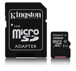 Kingston 128GB MicroSDHC/XC minniskort, Class10/UHS-I