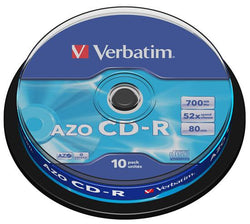 Verbatim 10stk 700MB CD 52x í spindle pakkningu