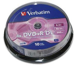 Verbatim 10stk 8.5GB DVD+R 8x Double Layer