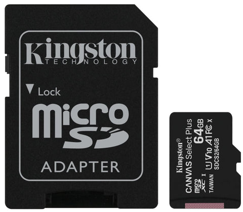 Kingston 16GB Canvas Select Plus MicroSD minniskort, Class 10 UHS-I