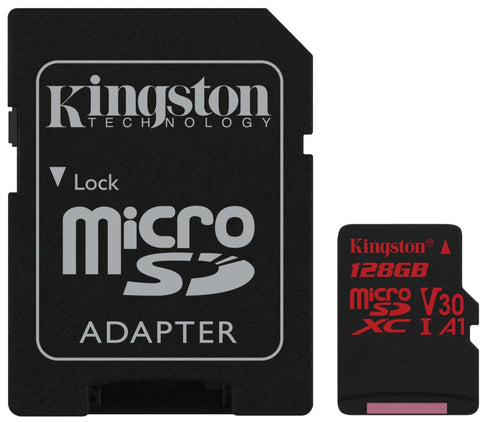 Kingston 128GB Canvas React MicroSDXC 4K minniskort, Class10 U3