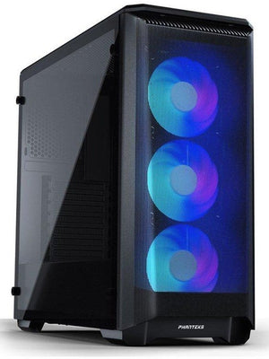 Phanteks Eclipse P400A DRGB Tempered Glass svartur, 3stk Digital-RGB viftur fylgja