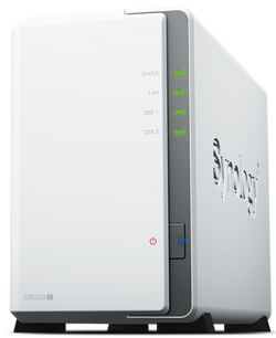 Synology DS220J, 2 diska fjölhæf Gigabit Cloud NAS hýsing