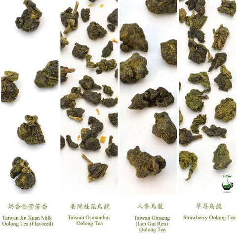4 Featured Flavory Oolong Teas Assortment - EzTea