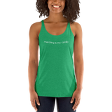 """Marching is my Cardio"" Women's Racerback Tanktop"