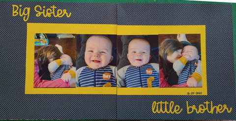 Big Sister Little Brother Scrapbook Layout