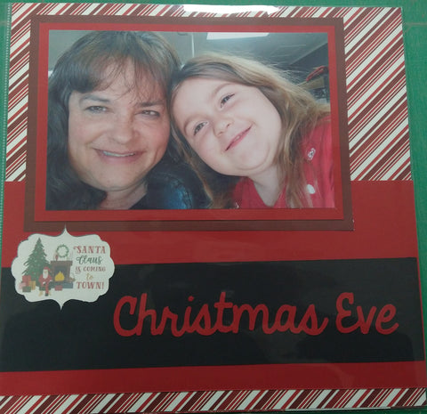 Christmas Eve Scrapbook Layout