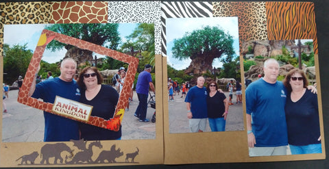 Animal Kingdom Two Page Scrapbook Layout