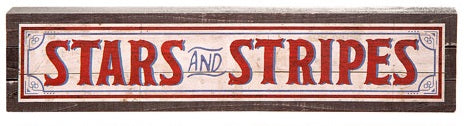 Stars and Stripes Patriotic Sign Decor
