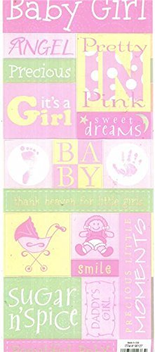 Baby girl Cardstock Stickers