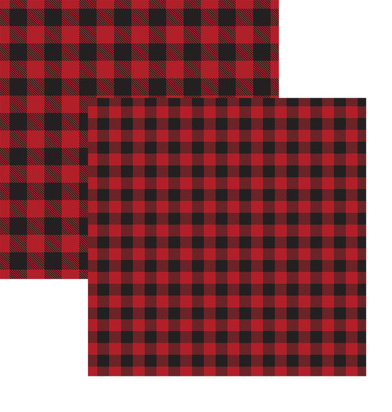 Buffalo Plaid Double Sided Cardstock Paper
