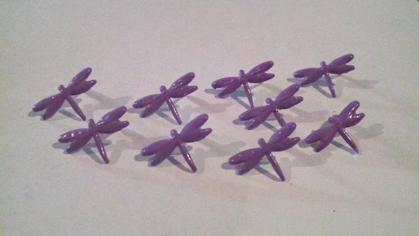 Dragonfly Brads - 10pc - Lavender