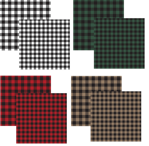 Buffalo Plaid 12x12 Scrapbook Paper Set