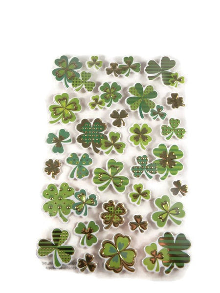 Foil Shamrock Stickers Accents