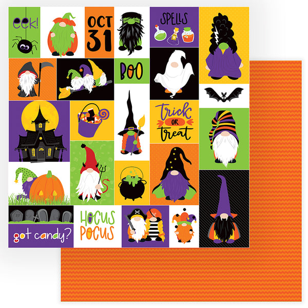 Trick or Treat Gnomes for Halloween Paper