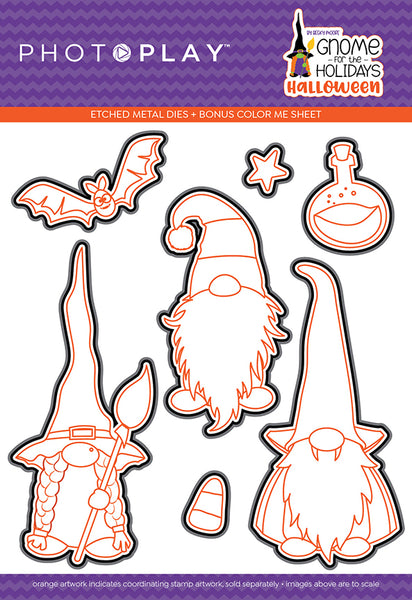 Gnomes for Halloween Metal Cutting Dies by PhotoPlay