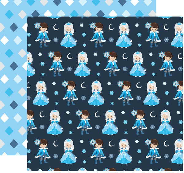 King and Queen Ice Kingdom Scrapbook paper