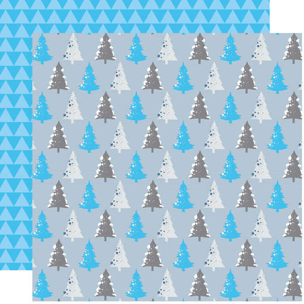 Trees Ice Kingdom Scrapbook Paper by Country Croppers