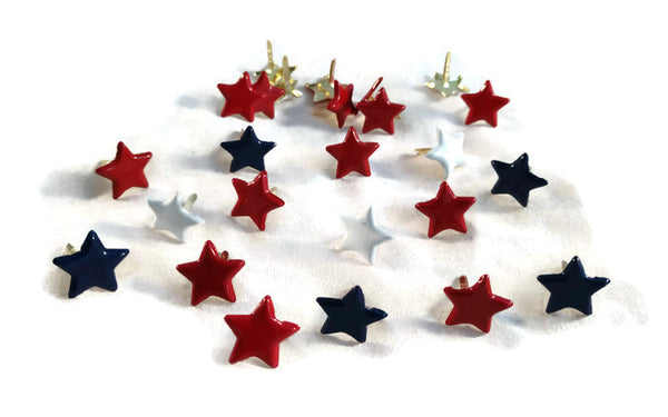 Red White & Blue Star Brads