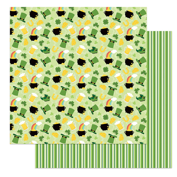Lucky Charm St Patricks Day Scrapbook Paper