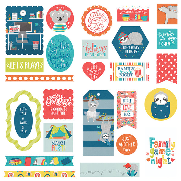 Stay Home Die Cuts Ephemera