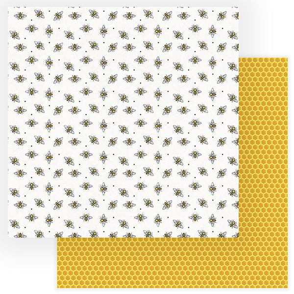 Busy Bee Scrapbook Paper by Photo Play