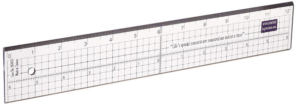 Clear Acrylic Ruler with Metal Edge