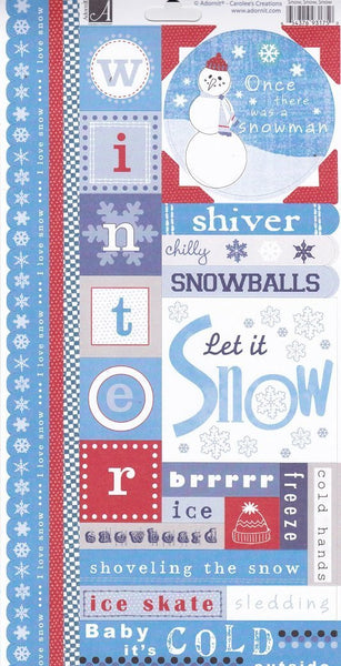 Snow Winter Cardstock Stickers by Adornit