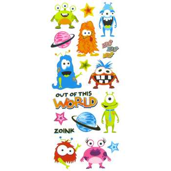 Cute Alien Monster Stickers Scrapbooking
