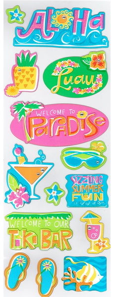 Aloha Beach Scrapbook Stickers