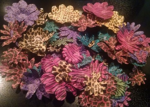 Animal print paper flowers assortment