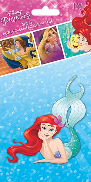 Colored Ariel the Little Mermaid Repositionable Decal