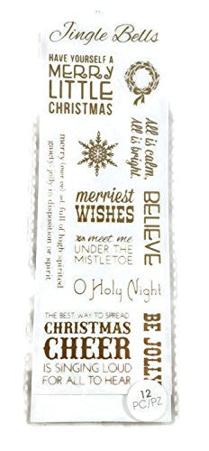 Gold Foil Christmas Word Stickers Scrapbooking by ATD