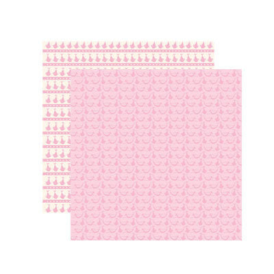 Reminisce Baby Basics - Baby Girl Delivery Scrapbook Paper - 5 Sheets