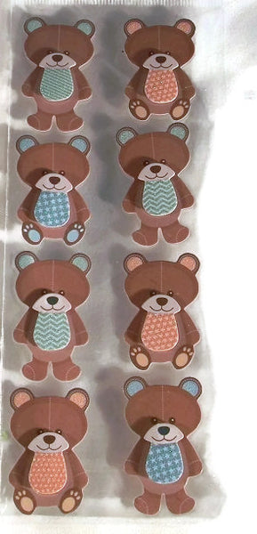 Baby Teddy Bear 3 Dimensional 3d Stickers