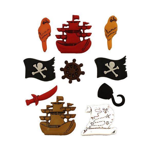 Fairy Tale Collection A Pirates Life Buttons