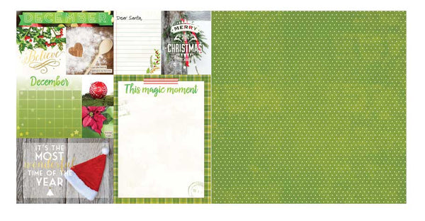 December Calendar Girl 12x12 Scrapbook Paper - 5 Sheets by Bo Bunny