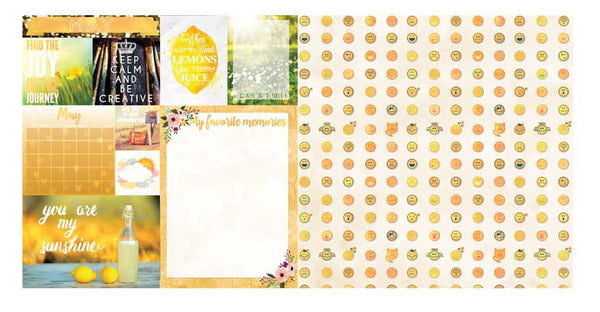 May Calendar Girl 12x12 Scrapbook Paper - 5 Sheets by Bo Bunny