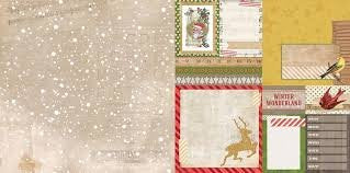 Bo Bunny Christmas Collage Flurries Paper 12x12