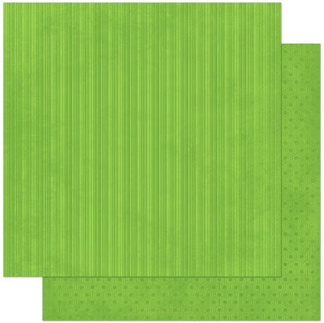 Kiwi Lime Green Stripe Dot Patterned Cardstock Double Sided