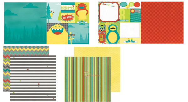 Bo Bunny Lil Monster Scrapbook Paper