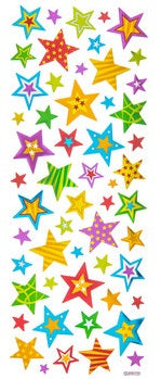 Foil Bright Color Star Stickers