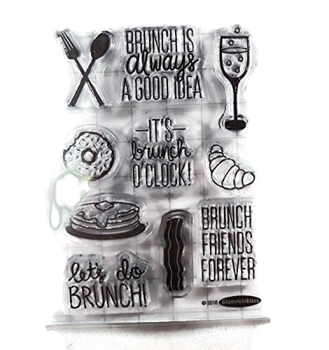 Brunch Food Clear Stamp Set