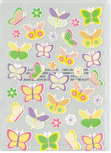 3d Puffy Pastel Spring Butterfly Stickers for Scrapbooking