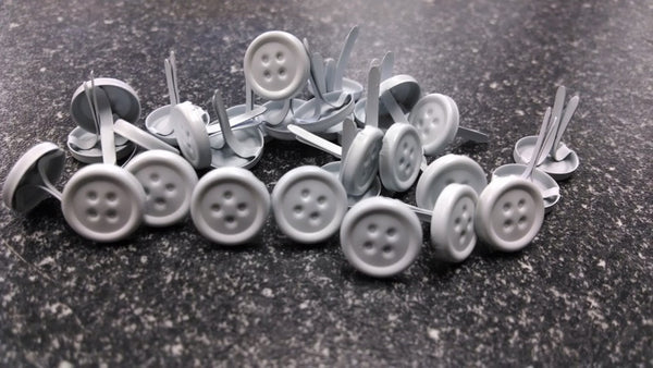 Button Brads - Large Whites | Paper Fasteners
