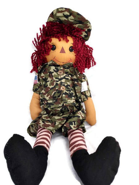 Camo Carl Rag Doll