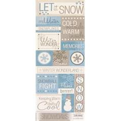 Let it Snow Cardstock Stickers by Paper Studio