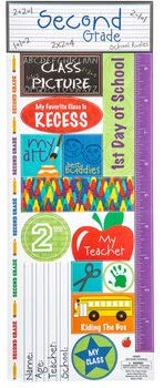 Second Grade School Stickers