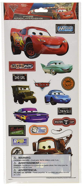 Disney Cars Scrapbook Stickers